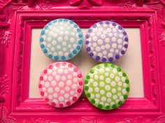 Hand painted knobs by bubblesandcompany on Etsy