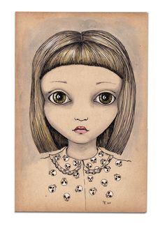 LOU, Ink drawing by EVA FIALKA   Artfinder
