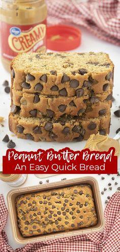 Breakfast Bread Recipes, Quick Bread Recipes, Sweet Recipes, Baking Recipes, Bar Recipes, Peanut Butter Bread, Peanut Butter Recipes, Fruit Bread, Sweets