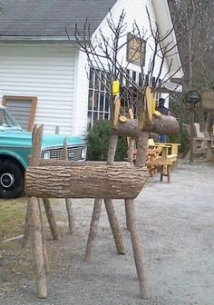 Wooden deer. So making these this year!