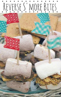Reverse S'mores Bites {S'mores Recipes} - Clean and Scentsible ^