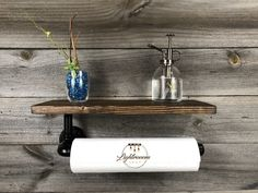 Your place to buy and sell all things handmade Farmhouse Paper Towel Holders, Industrial Paper Towel Holders, Industrial Design Furniture, Modern Industrial, Hanger Rack, Household Cleaners, Bathroom Sets, Toilet Paper, Espresso