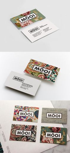 mooi business cards