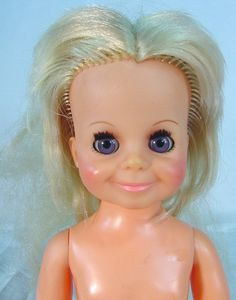 Crissy VELVET~ CLEAN BODY~ NICE HEAD~  Great Project Doll~ VINTAGE IDEAL~ #Ideal
