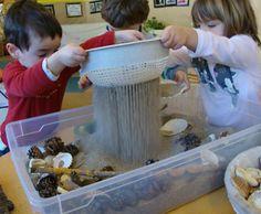 Jocs amb sorra nens de dos anys , llar d'infants les baldufes, Olot