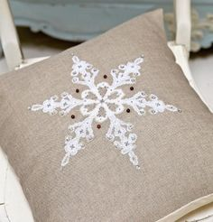 SNOW STAR  whitesilvercross by anetteeriksson on Etsy, $5.00