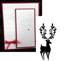 Christmas Embossing Folders - REINDEER IN CORNER - DARICE 1218-113 Holidays New #darice
