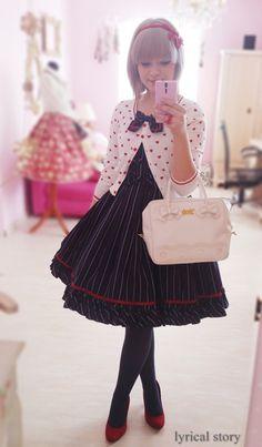 Fortissimo JSK by Angelic Pretty Kawaii Fashion, Lolita Fashion, Cute Fashion, Asian Fashion, Fashion Styles, Emo Fashion, Gothic Fashion, Estilo Lolita, Harajuku