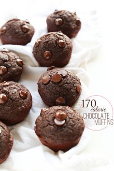 SUPER FUDGY 170 Calorie Double Chocolate Muffins! #vegan + made with a secret, healthy ingredient.