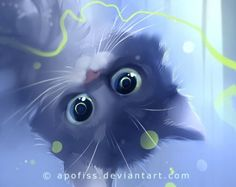 Funny and cute cats by Apofiss Anime Animals, Cute Animals, I Love Cats, Cute Cats, Chesire Cat, Image Chat, Warrior Cats, Cat Drawing, Beautiful Cats