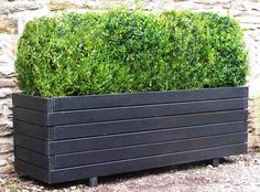 Garden Planters - Very Large Wooden Trough Planters 1.8m long