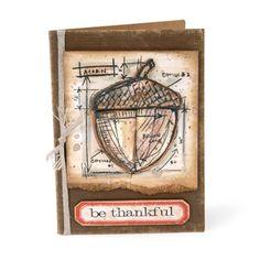 Be Thankful Acorn Card