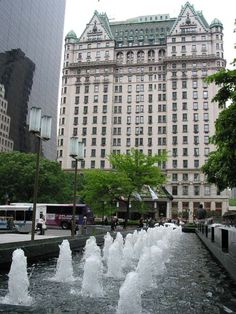 plaza hotel    The fountain in front of the GM building and The Plaza Hotel.