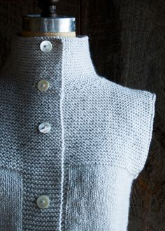Laura's Loop: Purl Soho's CardiganVest - Purl Soho - Knitting Crochet Sewing Embroidery Crafts Patterns and Ideas!