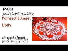 Maggie's Crochet · Poinsettia Angel Doily Crochet Pattern
