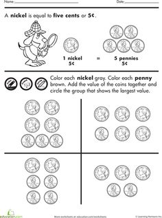 Penny, Nickel, Dime Word Problems | Word Problems, Worksheets and ...
