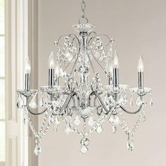 Vienna Full Spectrum 23 1 2 W Chrome And Crystal Chandelier 92905