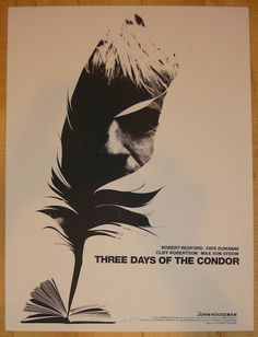 """2012 """"Three Days of the Condor"""" - Movie Poster by Jay Shaw"""