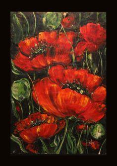 Amapola; tecnica mixta en papel serie; Eterna Primavera www.mariadoloresfelix.blogspot.com