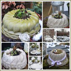 Winterdeko... Betonkuchen - Wohnen und Garten Foto