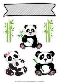 Sirlene colares: TOPO DE BOLO URSO PANDA #topodeboloursopanda #topodebolodepapel #ursopanda #festaursopanda #festainfantil # Panda Themed Party, Panda Party, Bear Party, Panda Birthday, 1st Boy Birthday, Panda Wallpapers, Cute Wallpapers, Bolo Panda, Panda Decorations