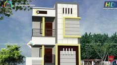 Building Elevation, House Elevation, Independent House, House Colors, Mj, Villas, Balcony, House Plans, Porch