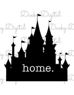 Télécharger Disney Castle Home fer sur transfert imprimable - numérique - chemise personnalisée - Disneyworld famille vacances correspondant à chemises
