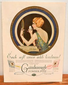 Awesome 1923 Vintage Beauty Ad in MINT condition