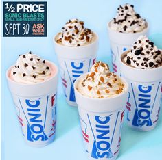Sonic Drive-In: Half-Price Sonic Blasts (9/30 Only)