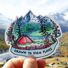 """1,337 Likes, 23 Comments - Hi, I'm Nikki Frumkin (@drawntohighplaces) on Instagram: """"Made this little drawing as a sketch for a logo that's going in a different direction. I like it:)…"""""""