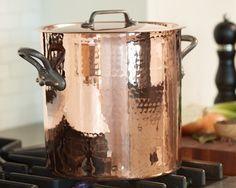 Mauviel Professional Copper Stock Pot, 11.7-Qt. #williamssonoma LOVE LOVE LOVE