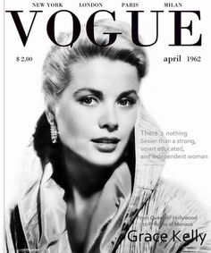 Grace Kelly Vogue cover 1962 More Vogue Magazine Covers, Fashion Magazine Cover, Fashion Cover, Fashion Hub, White Aesthetic, Aesthetic Vintage, Vintage Vogue Covers, Oscar Winning Movies, Magazin Covers