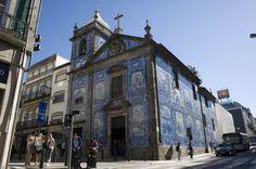 How to get two vacations for the price of one  PORTO, PORTUGAL-The blue tiled Capela das Almas de Santa Catarina.