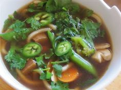Albion Cooks: Udon Noodle Soup with Tofu & Greens