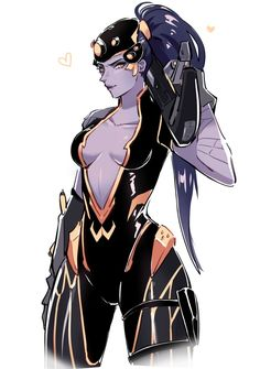 Widowmaker in the dynasty skin Overwatch Widowmaker, Overwatch Memes, Overwatch Fan Art, Fantasy Characters, Female Characters, Anime Characters, Drag Queens, Game Character, Character Design