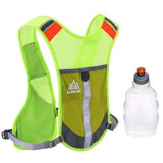 Premium Reflective Vest Give Sport Water Bottle as Gift for Running Cycling Clothes for Women Men Safety Gear with Pocket 3M Scotchlite with Reflective High Visibility -- See this great product.