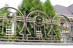 Design forged fence  from the Art Nouveau style, inspired by the city of Lviv