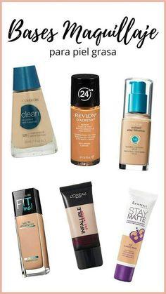 Makeup Tips for Oily Skin- Trucos de Maquillaje para Piel Grasa With these makeup tips oily skin will not be a problem. Makeup Tips For Oily Skin, Beauty Makeup Tips, Beauty Make Up, Skin Tips, Makeup Dupes, Makeup Cosmetics, Eye Makeup, Prom Makeup, Rimmel