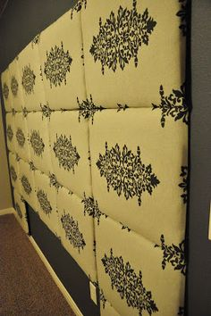 Tutorial: How to make a Fabric Headboard – All Things Thrifty