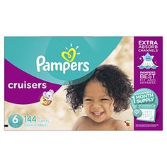 Pampers Cruisers Diapers Size 6 144 count. For price & product info go to: https://all4babies.co.business/pampers-cruisers-diapers-size-6-144-count/