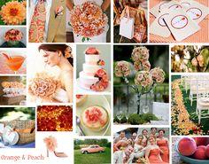 Wonderful Day Weddings: Orange & Peach - A Perfect Early Autumn Color Scheme