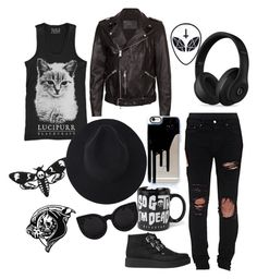 """Just Like You"" by averina30 on Polyvore featuring AMIRI, Delalle, AllSaints and Beats by Dr. Dre"