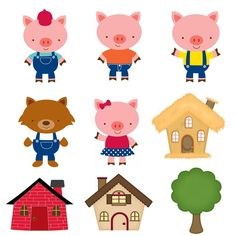 Fall Crafts, Diy And Crafts, Crafts For Kids, Paper Crafts, Puppets For Kids, Pig Party, Three Little Pigs, Busy Book, Paper Toys