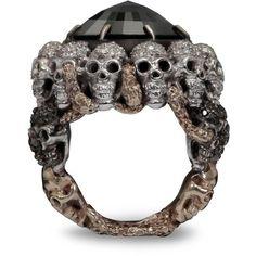 Gold and Diamond Skull Ring by  Delfina Delettrez.
