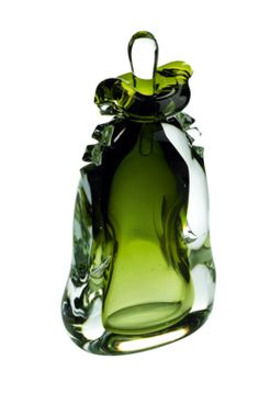 Beautiful Green Perfume Bottle