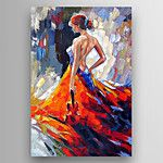 Peint à la main PersonnageStyle européen Un Panneau Toile Peinture à l'huile Hang-peint For Décoration d'intérieur de 2016 ? €16.65
