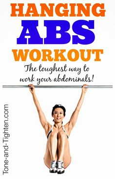 Hang with us - if you can! The best way to work your abs. Period. Get this amazing #abs #workout from Tone-and-Tighten.com