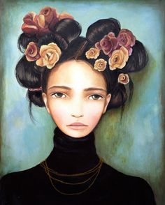 Impresión de arte de Rosa y rosas
