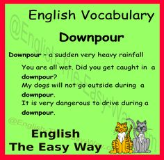 English Vocabulary  You are all _____, Was there a downpour? 1. wet 2. hot  #EnglishVocabulary #LearnEnglish