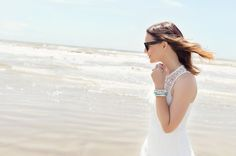 Caroline styles a white lace dress for a day at the beach with beautiful LAGOS jewelry accessories << HOUSE of HARPER